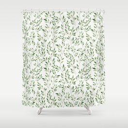 Eucalyptus Leaves Pattern Shower Curtain