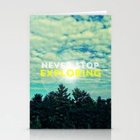 never stop exploring Stationery Cards featuring Never Stop Exploring II by Josrick