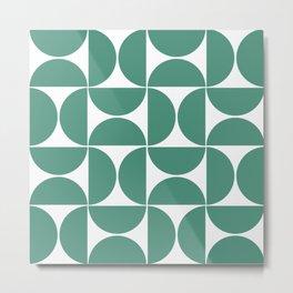 Mid Century Modern Geometric Mint Metal Print