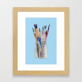 Paint Brushes Framed Art Print