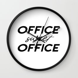 Office Sweet Office,Office Wall Art,Office Sign,Office Art,Office Decor,Girl Boss,Girly Gift Wall Clock