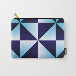 Tri Blue Carry-All Pouch