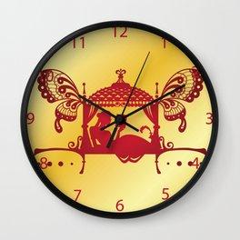 Bridal Palanquin India.doli silhouette Wall Clock