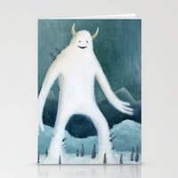 yeti Stationery Cards featuring Yeti by Monster Tea Party