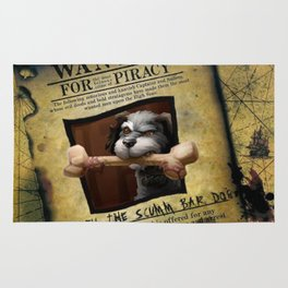 Monkey Island - WANTED! Spiffy, the Scumm Bar dog Rug