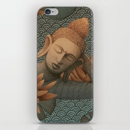 sleeping Buddha with lotus 2 iPhone Skin