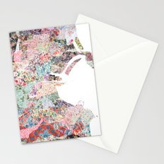 Dublin map Stationery Cards