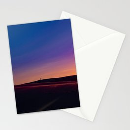 SILHOUETTE ON TWO PERSONS ON DUNE Stationery Cards