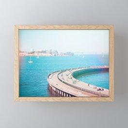 Alcatraz in the Bay Fine Art Print Framed Mini Art Print