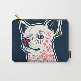Funny Hipster Style Good Boy Dog Lover Tattoo Covered Chihuahua Carry-All Pouch