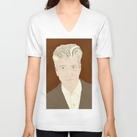 lynch V-neck T-shirts featuring LYNCH by Itxaso Beistegui Illustrations