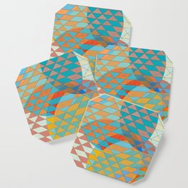 Triangle Pattern No. 11 Circles Coaster