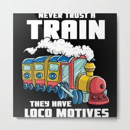 Kids train children locomotive - express train Metal Print