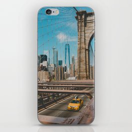 The Bridge in New York City (Color) iPhone Skin