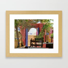 Sit and Stay Awhile Framed Art Print