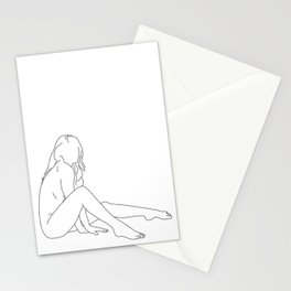 Nude life drawing figure - Bret Stationery Cards