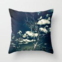breathe Throw Pillows featuring BREATHE by Steffen Remter