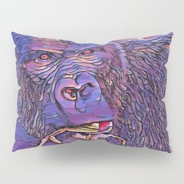 Feeding Gorilla Pillow Sham