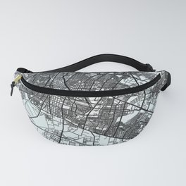 León, Mexico, White, City, Map Fanny Pack