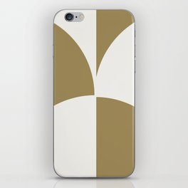 Diamond Series Round Checkers White on Gold iPhone Skin