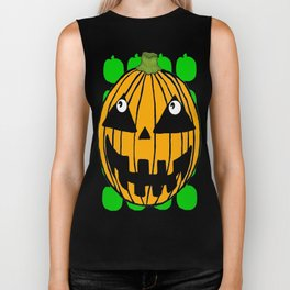 White-Eyed Pumpkin Biker Tank