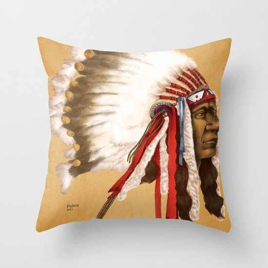 Throw Pillows Next : Crow Native American Throw Pillow by Pulvis Society6