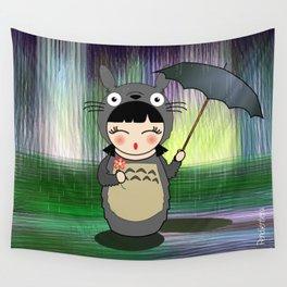 Kokeshi anime Toto ro Wall Tapestry