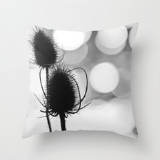 Teasel Silhouette Throw Pillow