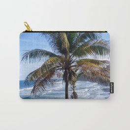 Black Sand Beaches and Palm trees Carry-All Pouch