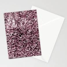 Pink Worms Stationery Cards