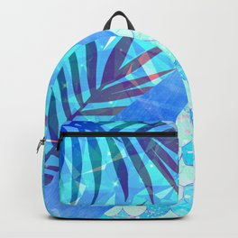 Sunny Candy Geometric Summer Mermaid Scales Backpack
