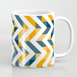 Chevron Oranges and Ink - Geometric Pattern Coffee Mug