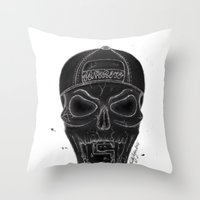 san diego Throw Pillows featuring San Diego  by MissLyoness