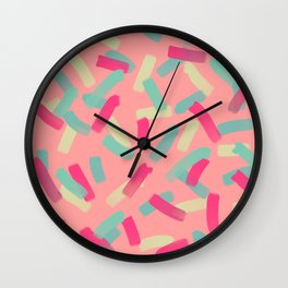 Colourful pattern Wall Clock