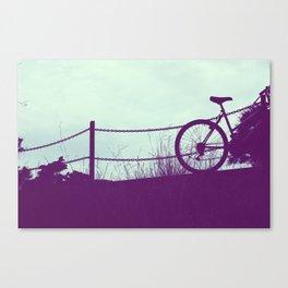 fence and bike Canvas Print