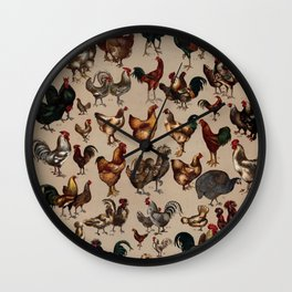 Poultry of the world Affiche Wall Clock