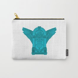 Vintage Flying Illuminati Jukebox Blue Carry-All Pouch