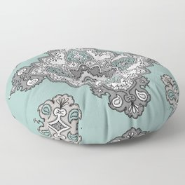 Aquamarine Medallion Floor Pillow