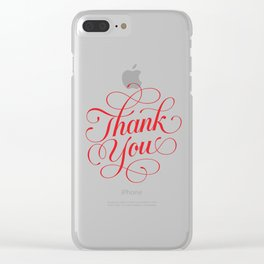 Thank You Clear iPhone Case
