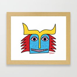 Uncle Sneaky Nose Framed Art Print