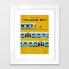 No800 My The Darjeeling Limited minimal movie poster Framed Art Print
