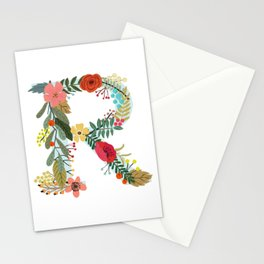 Monogram Letter R Stationery Cards