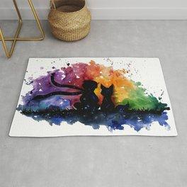 El Principito The Little Prince Fox Book Watercolor Art Rug