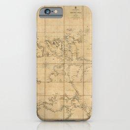 Arctic Ocean Map (1854) iPhone Case