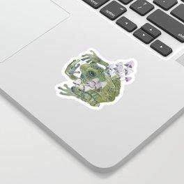 frog & mushrooms Sticker
