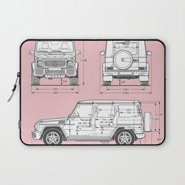 GWAGON BLUEPRINT (pink) Laptop Sleeve