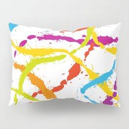 Splattered Rainbow [WHITE] Pillow Sham
