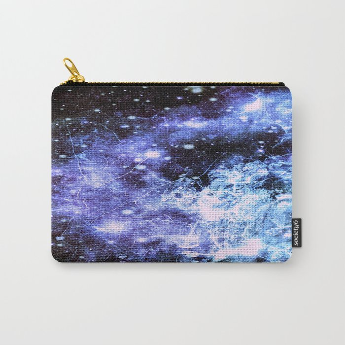 Chaotic Space : Galaxy Periwinkle Blue Lavender Gray Carry-All Pouch