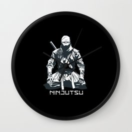 Ninjutsu Funny Birthday Gift for Asian Martial Wall Clock