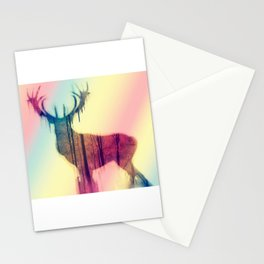 Deer colorful Stationery Cards